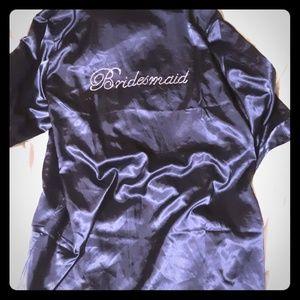 Navy Blue Bridesmaid Robe